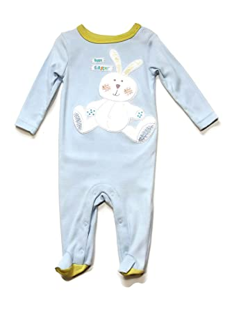 Image Unavailable. Image not available for. Color  Koala Kids Baby Boy s  3-6 Months Happy Easter Bunny Blue Footed Pajama Sleeper 33284049d
