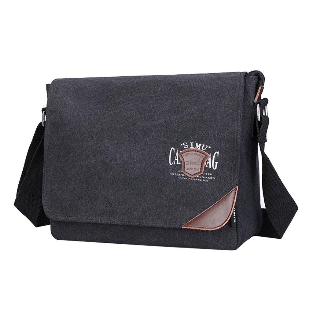 Super Modern Mens Canvas Shoulder Bag Messenger Bag Laptop Bag Computer Bag  Satchel Bag Bookbag School Bag Working Bag Crossbody Bag  Amazon.co.uk   Sports   ... 4d3790c94603c