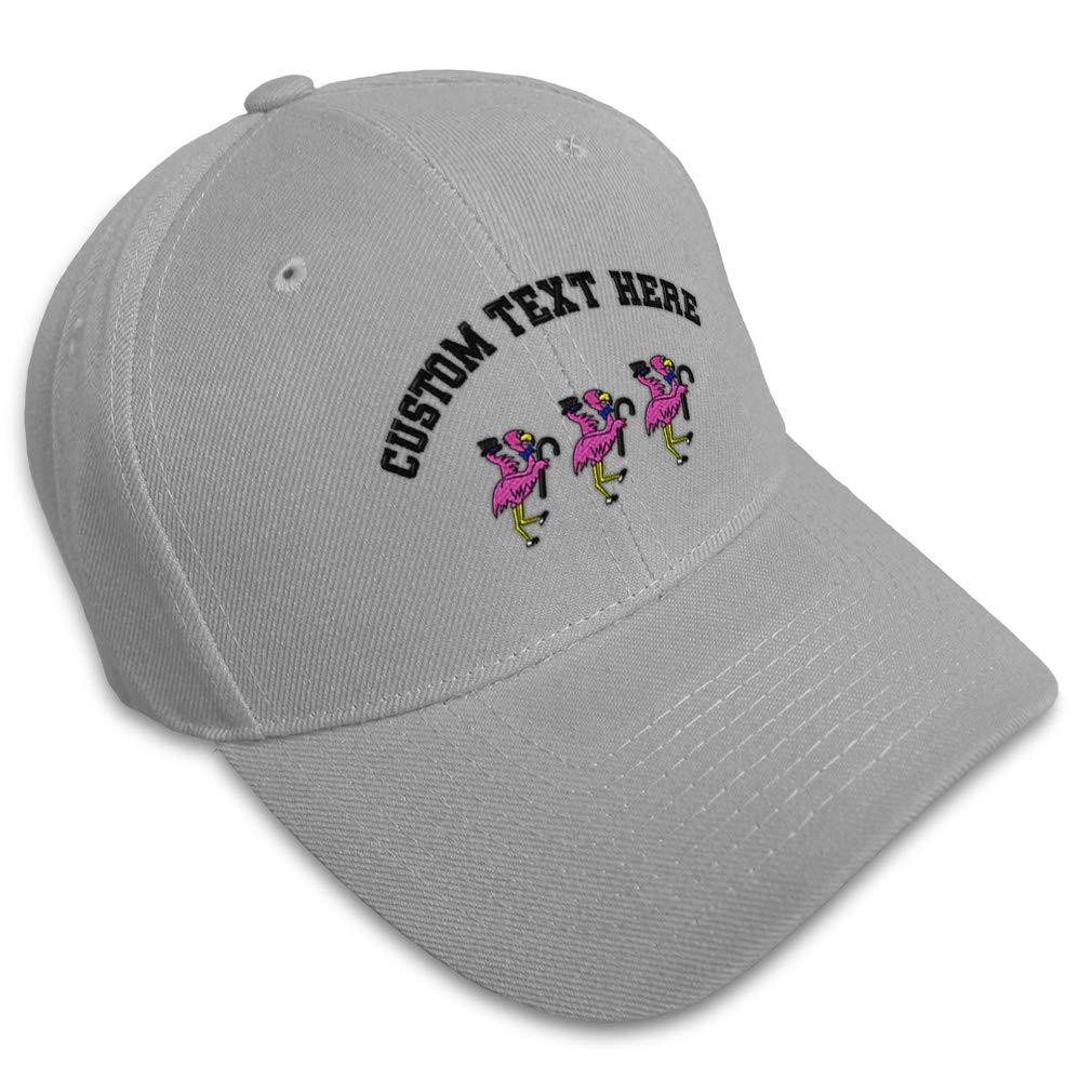 Custom Baseball Cap Dancing Pink Flamingos Embroidery Dad Hats for Men /& Women