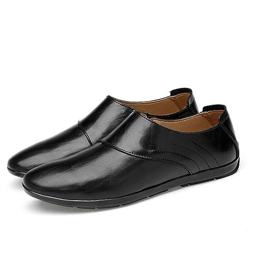 Shufang-Shoes, Mocasines de Papel para Hombre, Color Negro, Talla 39: Amazon.es: Zapatos y complementos
