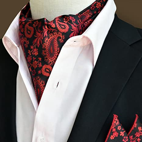 genuino mejor calificado gran variedad de estilos sin impuesto de venta LIXIONG Hombres Corbata Bufanda Pañuelo Jacquard Traje de ...