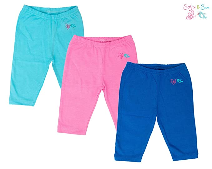 Sofie & Sam - pack de 3 pijamas/leggings para 6-9 meses bebé