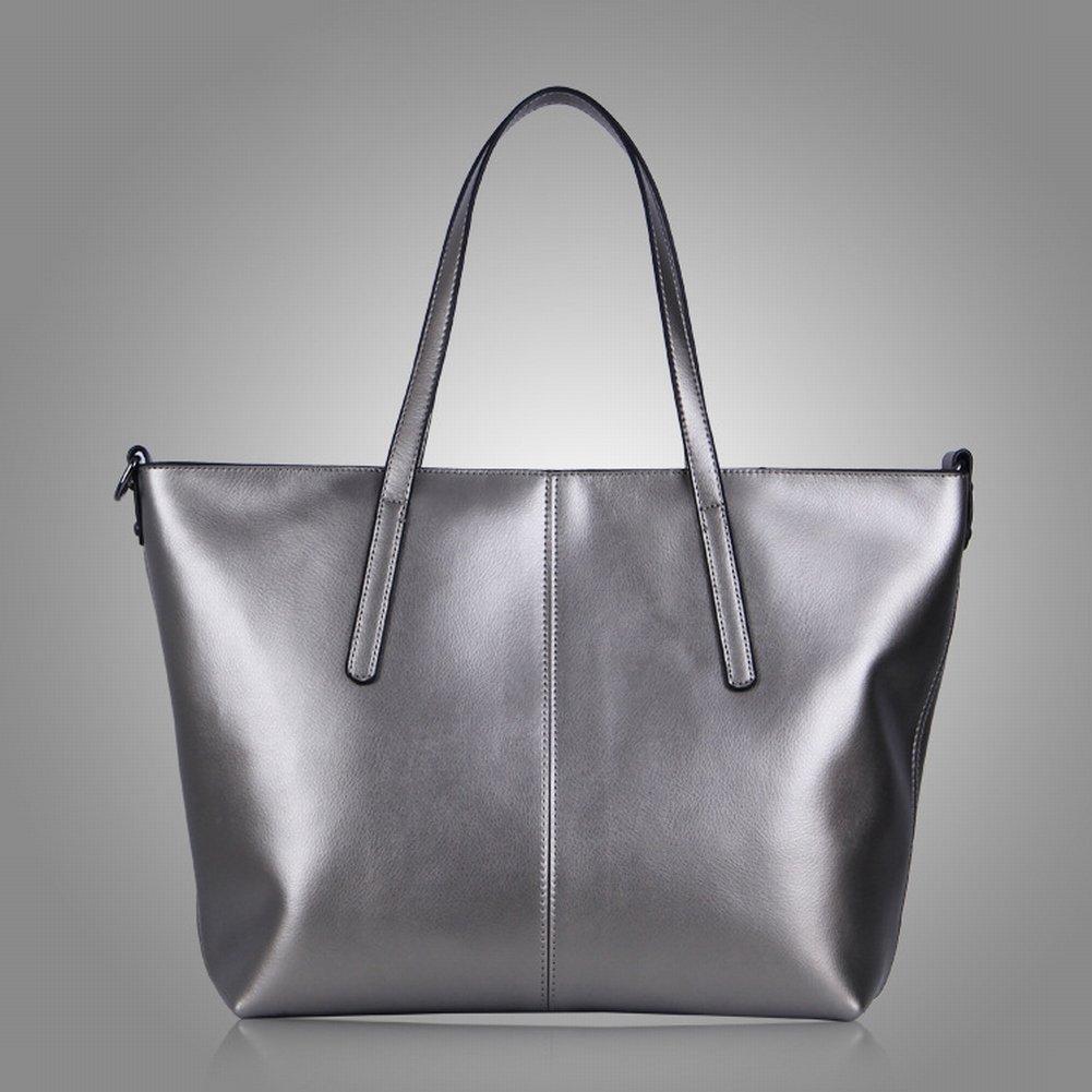 Wasser Weiches Leder Schulterdiagonale Handtasche , Silber-