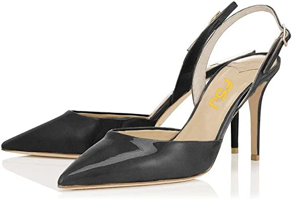 Ladies Women High heels Pointy Toe Stiletto Sandals Ankle Strap Court Shoes Size