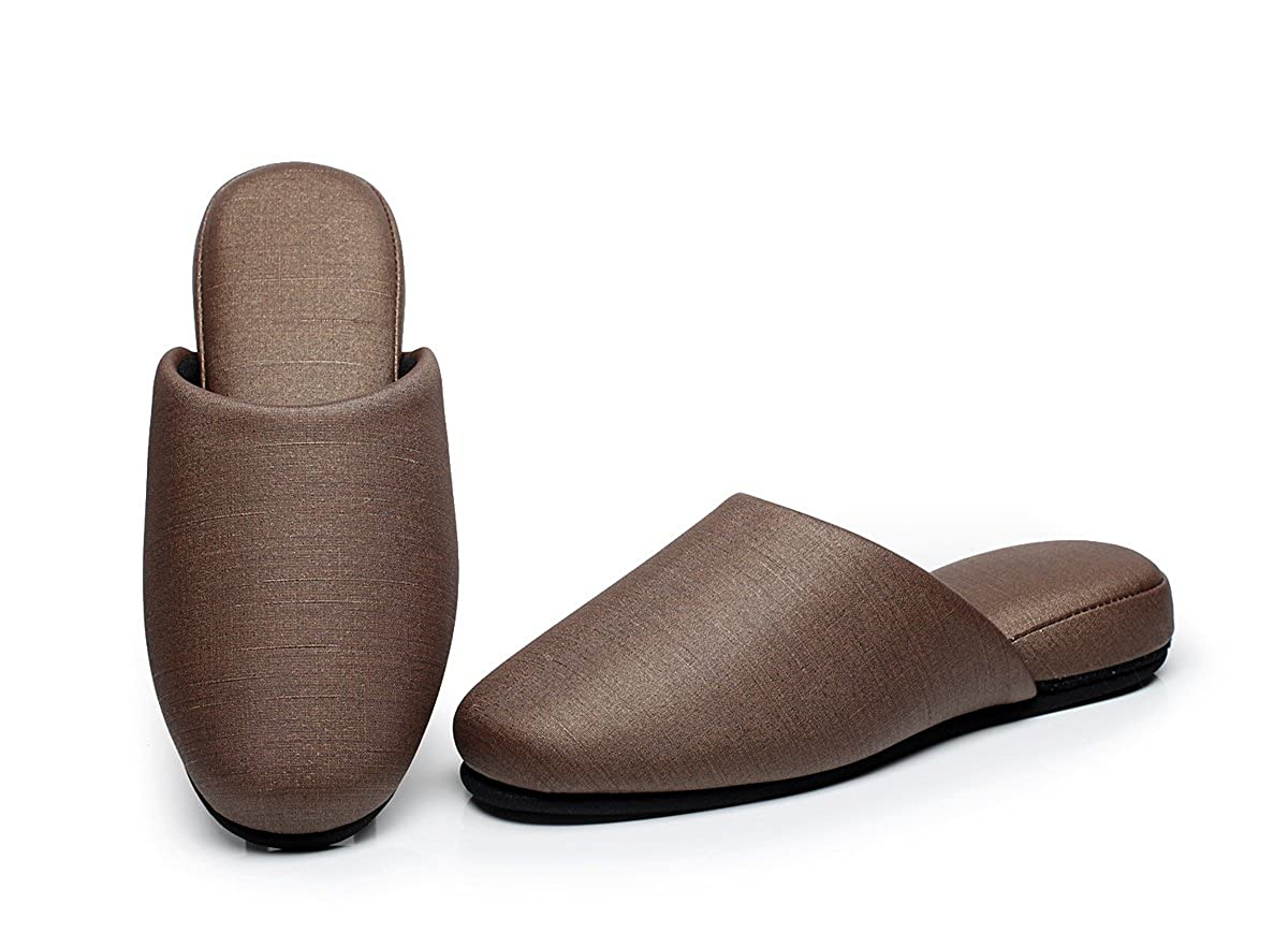 Moon Womens Polyester Synthetic Leather Slippers