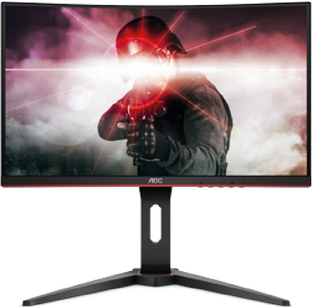 "AOC C8G8 8"" Curved Frameless Gaming Monitor, FHD 8080p, 8500R VA panel,  8ms 844Hz, FreeSync, Height adjustable, VESA, 8-Year Zero Dead Pixels Black"