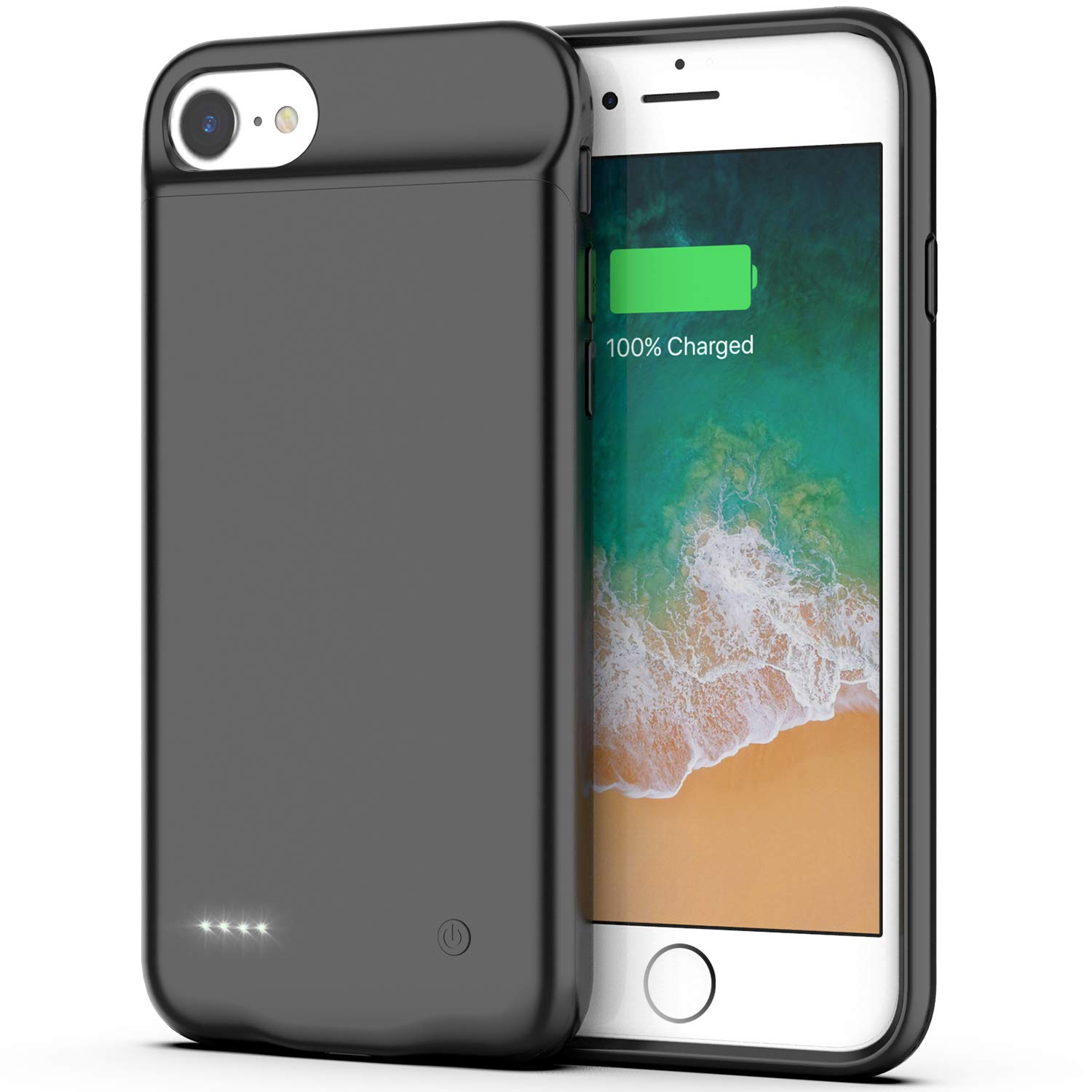 Battery Case for iPhone 7 Plus / 8 Plus / 6s Plus / 6 Plus, 4000mAh Portable Protective Charging Case Extended Rechargeable Battery Pack Compatible with iPhone 7 Plus /8 Plus /6s Plus /6 Plus Szresm 4348690227