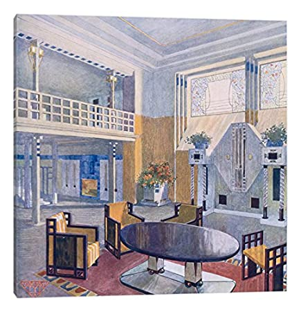iCanvasART Viennese Project from a Hall in Modernist Style Prutscher O Geyling R /& Vollmer H Early 1900s Canvas Print 37 x 37