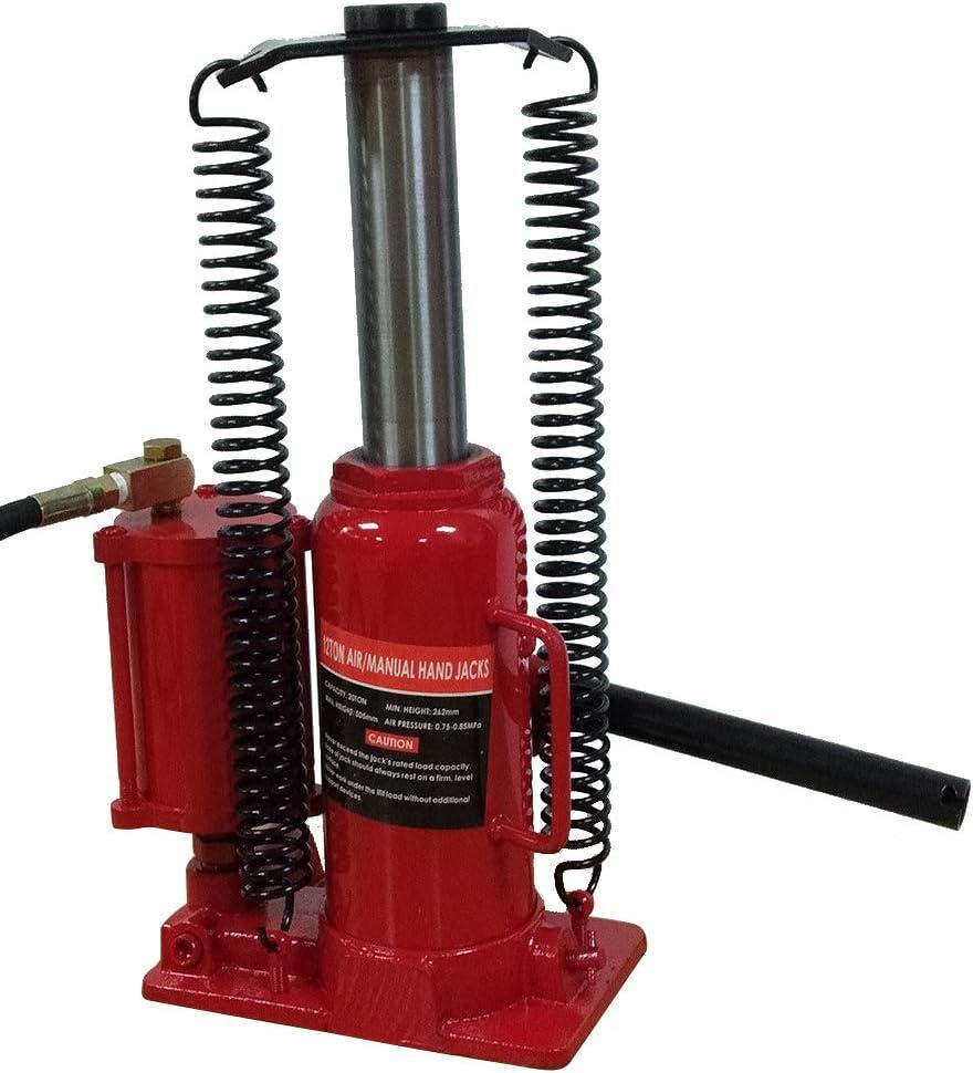 TRIL GEAR 12 Ton Air/Manual Pneumatic Hydraulic Bottle Jack ...