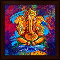 Story@Home Artistically Designed 'Ganesha' Framed Wall Art Painting