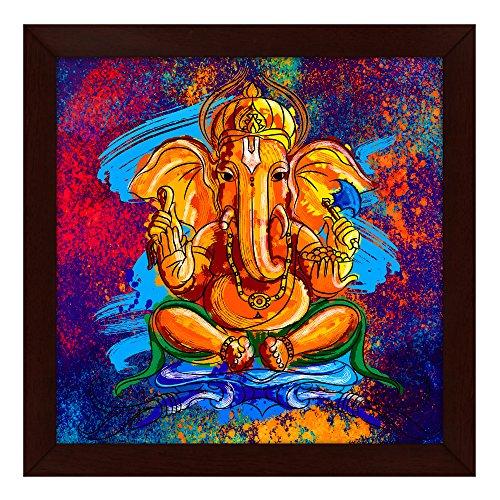 Story@Home Artistically Designed 'Ganesha' Framed Wall Art Painting