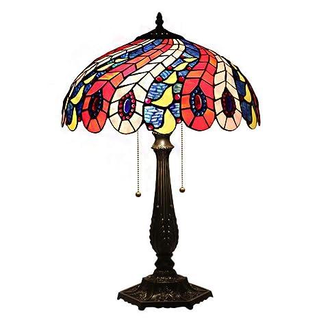Lámpara De Mesa Estilo Tiffany, Romántica, Retro Luces De ...