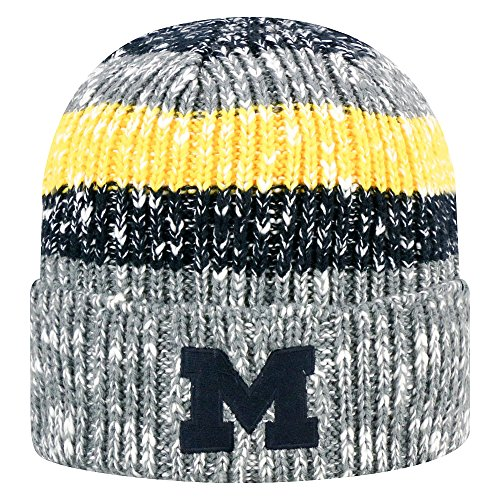 - Top of the World NCAA Michigan Wolverines Men's Elite Fan Shop Winter Knit Wonder Warm Hat, Grey