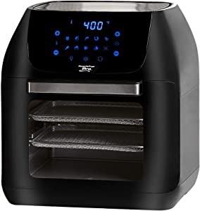 Power XL 10-in-1 1500W 6-qt Pro XLT Air Fryer Oven w/Rotisserie (Black) (Renewed)