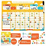 kids star chore chart - Chore Chart for Kids - Magnetic Reward Calendar Board - Dry Erase Schedule Responsibility Charts - Toddler Behavior - Wall Sticker Rewards Magnets - Multiple Toddlers Family - Potty Training Planner