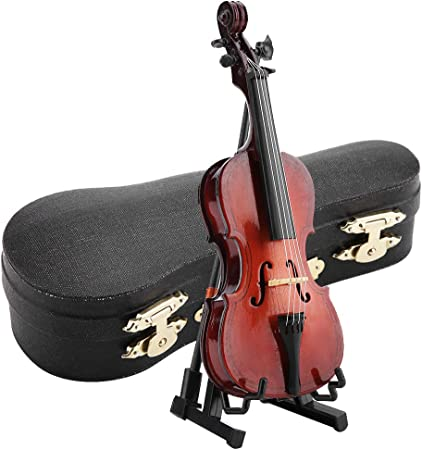 Hztyyier Violonchelo en Miniatura Modelo de Instrumento de Madera de 5.5 Pulgadas con Estuche Pantalla de Escritorio Regalos Musicales Adornos: Amazon.es: Hogar
