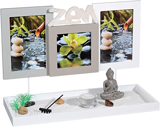 2 en 1 Jardín Zen con 3 marcos de fotos: Amazon.es: Hogar
