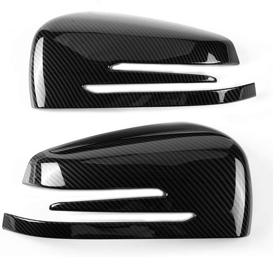 Keenso Spiegelkappen Rückspiegel Abdeckung Carbon Stoßfeste Seitenrückspiegel Kappe Verkleidung Für Abce Gla Klasse W204 W212 Auto