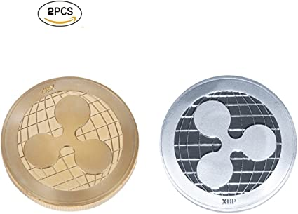 XRP Coin  Gold /& Silver Ripple Commemorative Round Collectors Coin Gifts