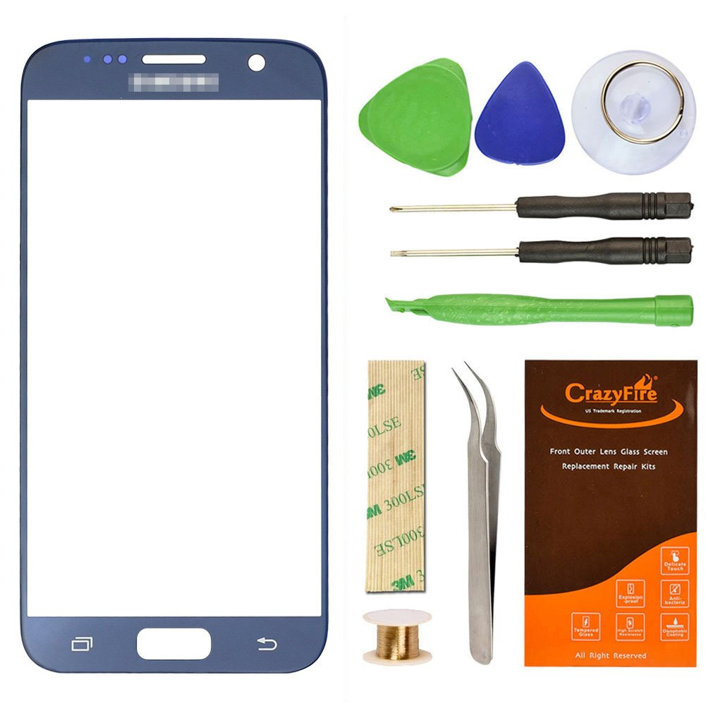 Amazon.com: Samsung Galaxy S7 G930 Blue Replacement Front Outer Lens ...