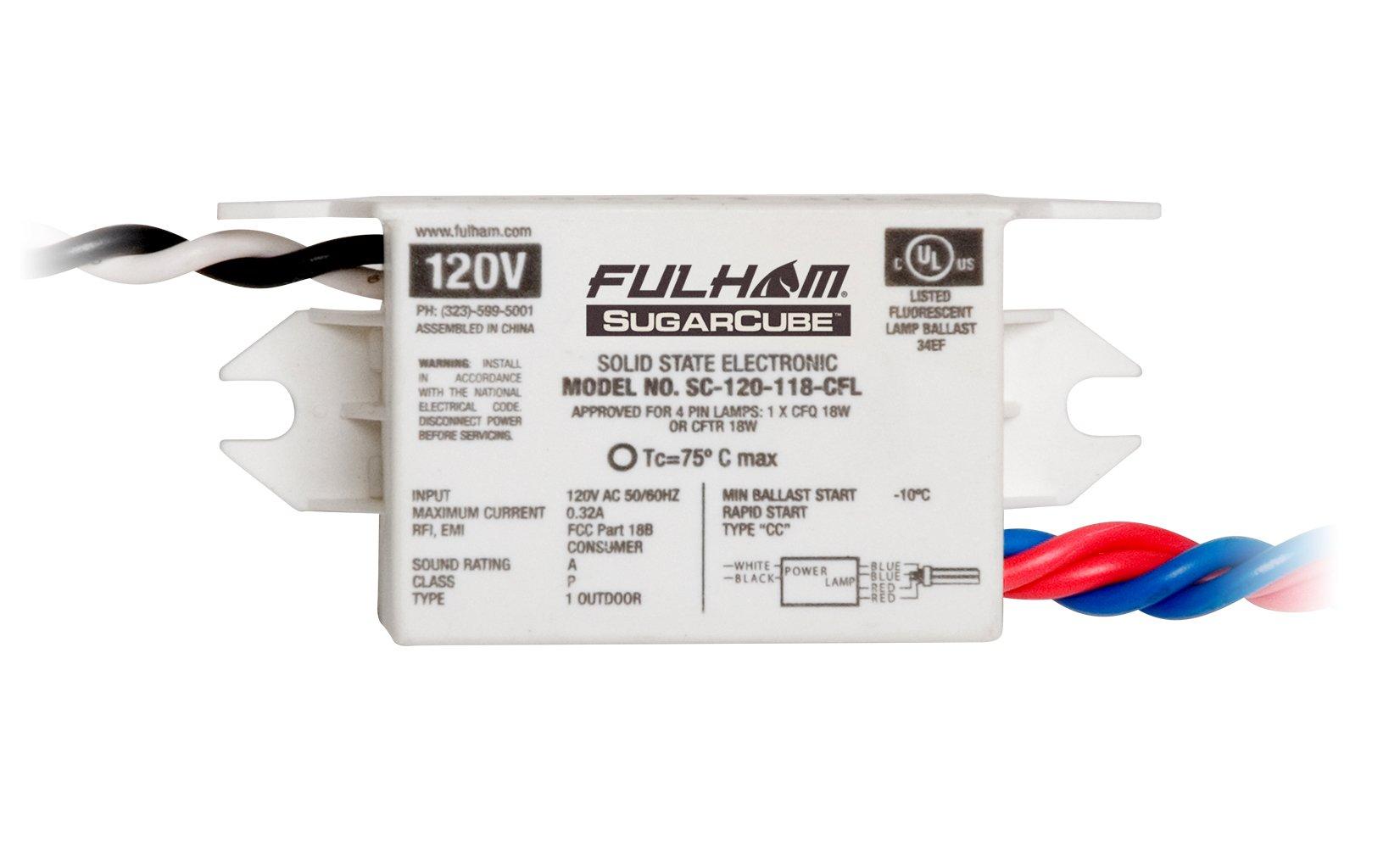 Fulham SC-120-118-CFL Sugar Cube Ballast