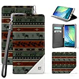 Galaxy S8 Case Slim Dual Layer Hybrid Full Body Protection Synthetic Leather Magnetic Closure Flip Wallet Cover With Built in kickstand Card Slot Detachable Wrist Strap (Adirondack pattern) offers