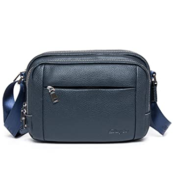 63c275ee9b9 Image Unavailable. Image not available for. Color  DANJUE full head layer leather  cross section shoulder Messenger bag ...