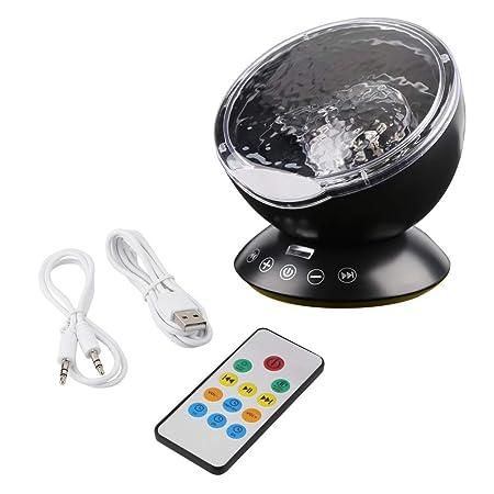 Lámpara para niños luz nocturna nocturna, proyector control remoto ...