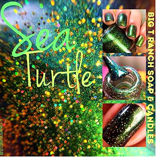 Turtle Lacquer (Multichrome (Sea Turtle) Multi-Color Shifting Polish: Custom-Blended Glitter Nail Polish / Indie Lacquer - FREE SHIPPING)