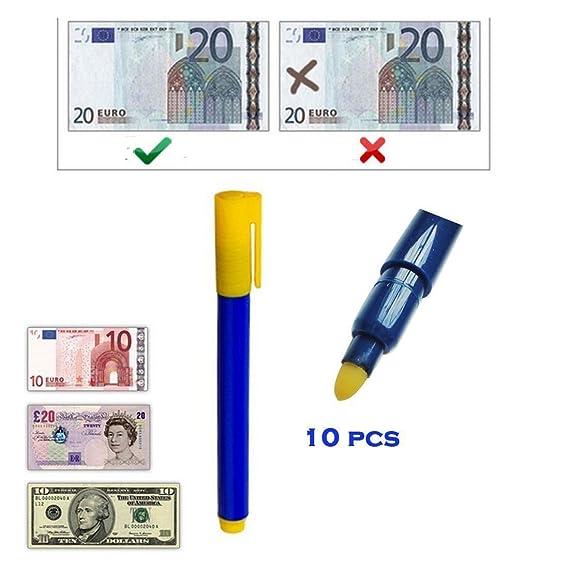 Securiky - Rotulador para detectar billetes falsos (10 unidades): Amazon.es: Oficina y papelería