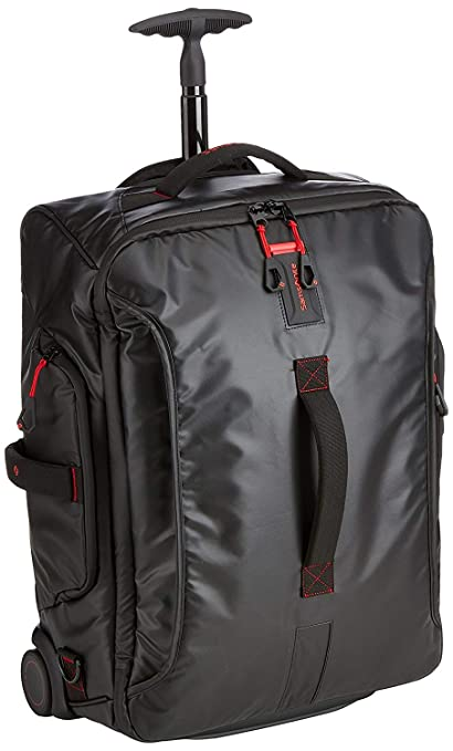 4d54f5b14675 Samsonite Paradiver Light Duffle on Wheels 55cm Backpack Black   Amazon.co.uk  Luggage