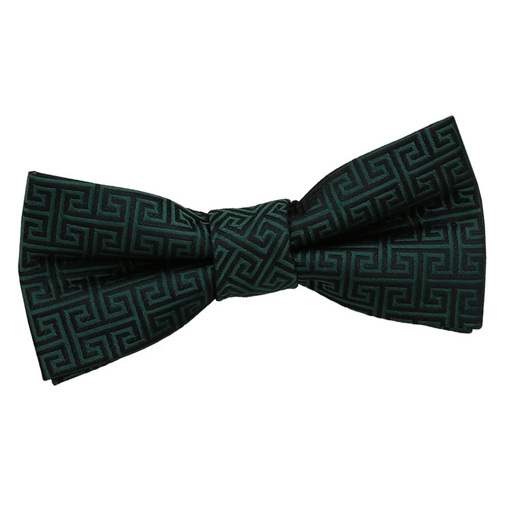 DQT Boys Greek Key Patterned Wedding Tuxedo Pre-tied Bow Tie