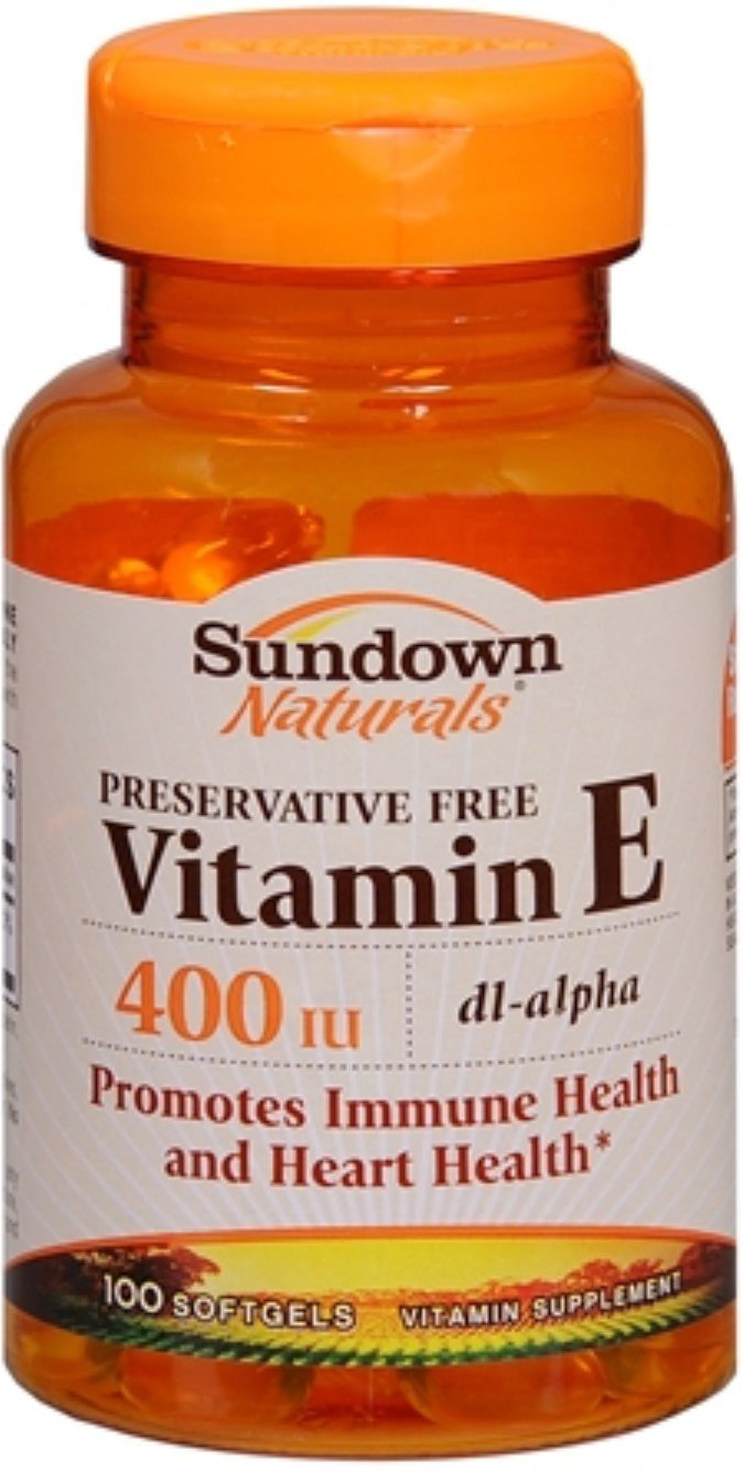 Sundown Vitamin E 400 IU Softgels DL-Alpha 100 Soft Gels (Pack of 12)