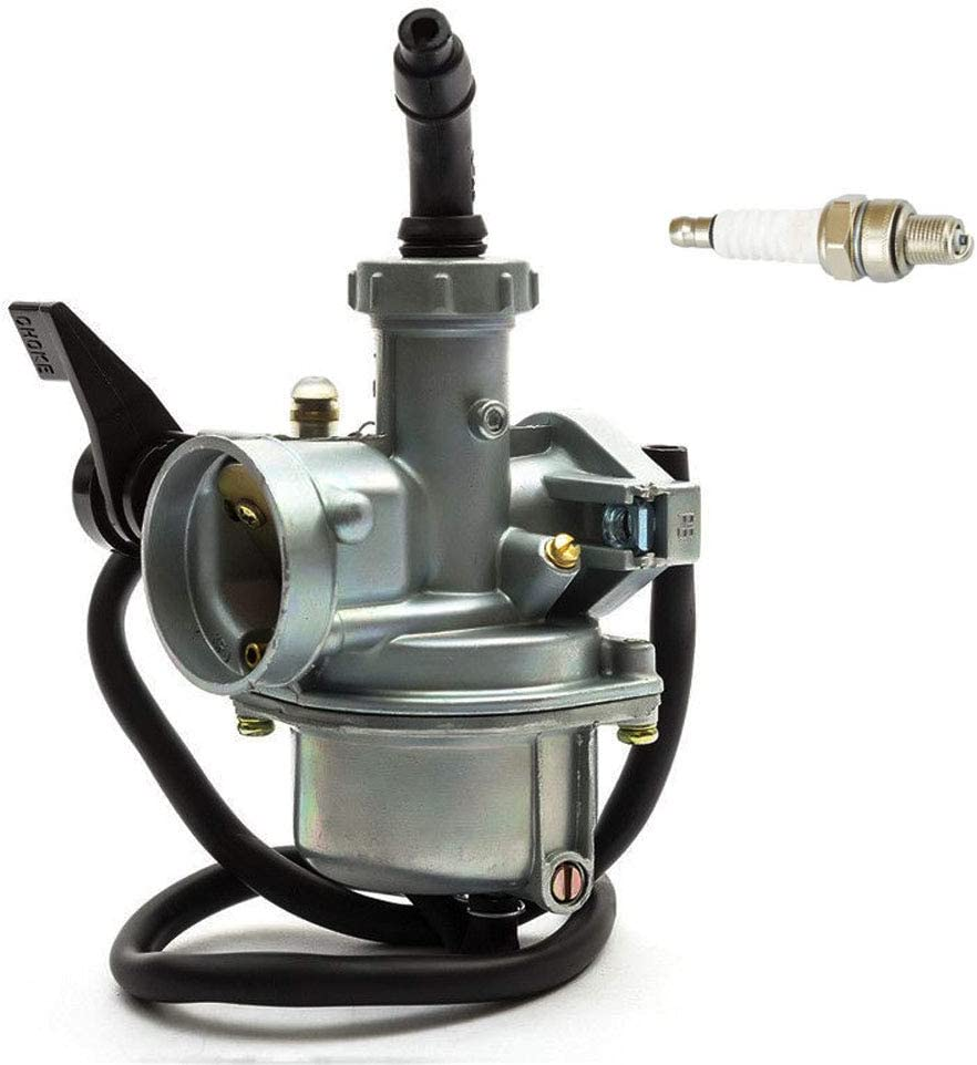 PZ22 Carburetor for 110cc 125cc Dirt Bikes Pit Bike Monkey Scooter ATV Quad Go Karts 22mm Carb with Air Filter Spark Plug by TOPEMAI
