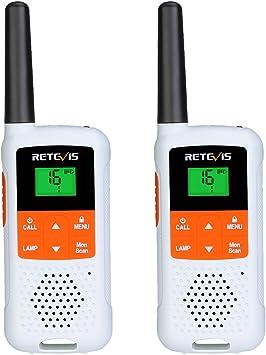 Retevis Rt649b Walkie Talkie 16 Kanäle Pmr446 Lizenzfrei 10 Ruftöne Led Taschenlampe Vox 3aa Akku Ctcss Dcs Walkie Talkie Für Den Außenbereich 2 Stück Weiß Elektronik