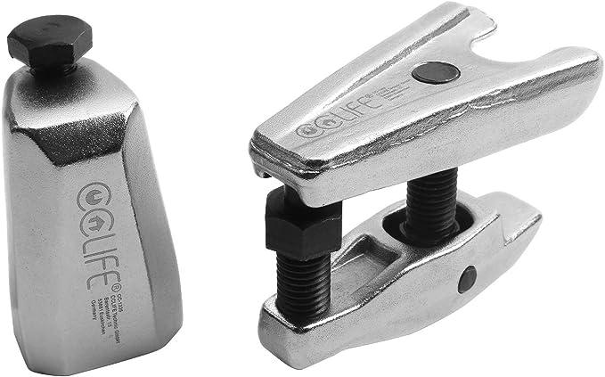 Cclife 3tlg Set Spurstangenkopf Kugelgelenk Traggelenk Abzieher Ausdrücker Kugelgelenkabzieher Werkzeug Auto