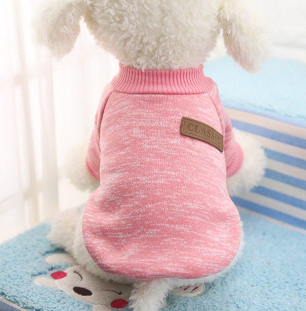 L Beauty DIY Mart V/êtement Qui Tient Chaud pour Les Petits Chiens en Hiver v/êtement Indispensable pour Un Hiver Bien au Chaud-Gris Bien Chaude et Toute Douce Chandail de Coton