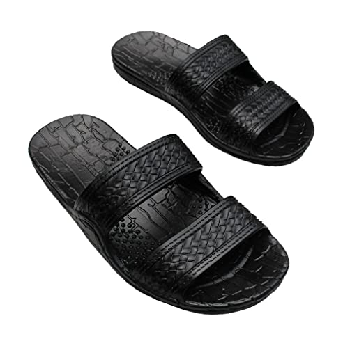 80d0cbae8 Image Unavailable. Image not available for. Color  Hawaii Brown Black Jesus  Sandal Slipper Men Women Teen ...