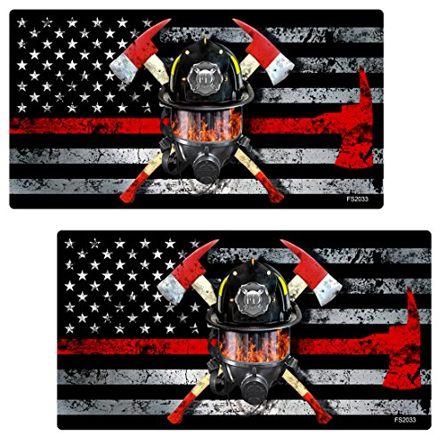AZ House of Graphics Thin RED LINE MASK Flag 2 pack Stickers