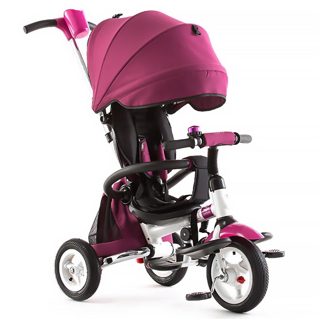 CGN子供用自転車、折りたたみ式子供用三輪車自転車赤ちゃん自転車の赤ちゃんキャリッジ soft B07C4V5ZKC パープル ぱ゜ぷる パープル ぱ゜ぷる
