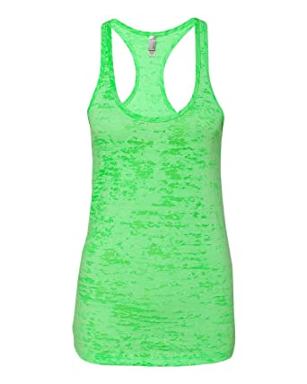 108f4f113081f Image Unavailable. Image not available for. Color  Next Level Womens  Burnout Racerback Tank Top ...