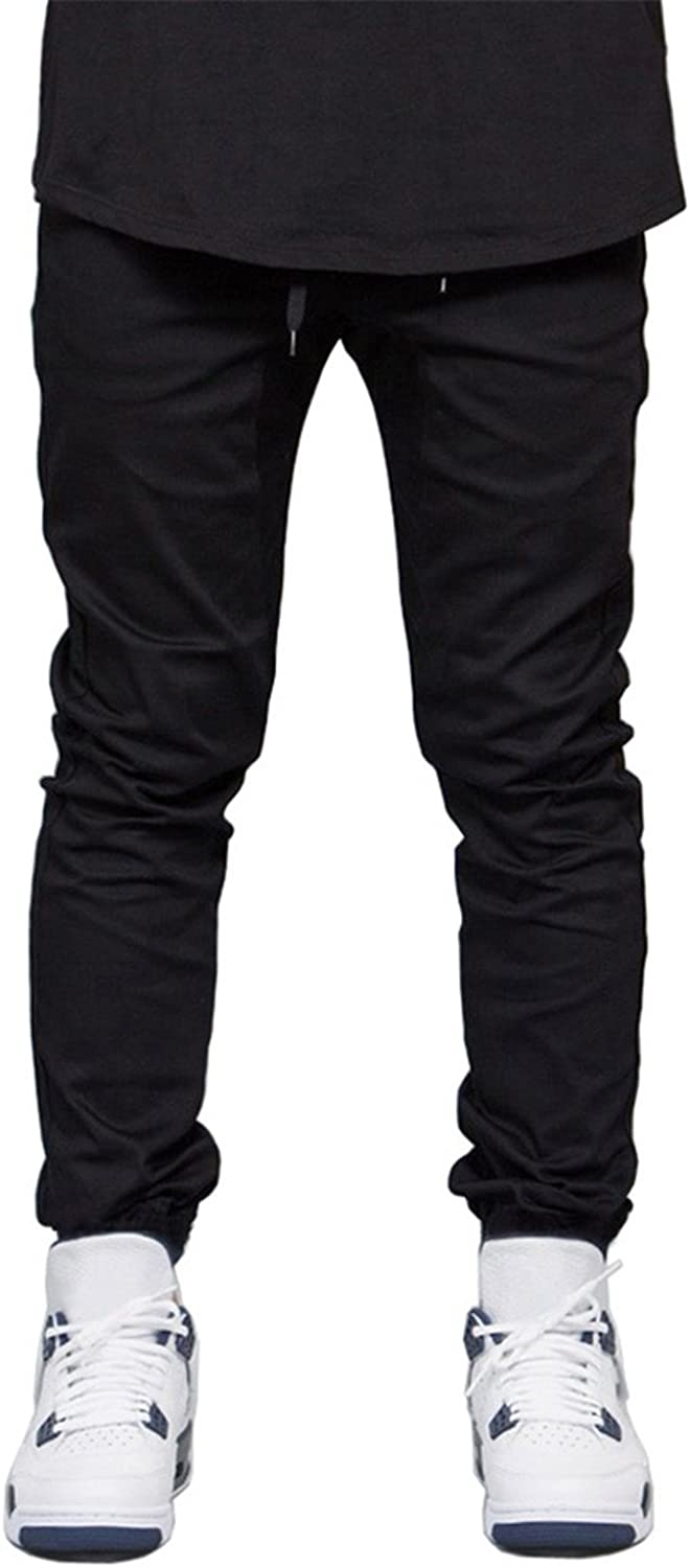 Jongood Trendy Men Jogger Pants Hip Hop Harem Stretch Joggers Runner Pants for Men