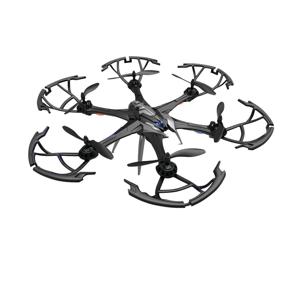 Dreamyth New 6 Axis Gyro RC Quadcopter Air Press Altitude Hold 2 Million Camera i7H 2.4GHz 6CH Durable (Black)