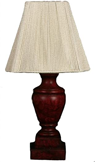 Royal Designs Oxblood Alabaster Mini Lamp Square Bell Lampshade