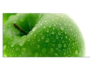 Aufhängesystem Küche | Exklusives Glasbild Eg4100500611 Apfel Kuche Grun 100x50cm Feng Shui
