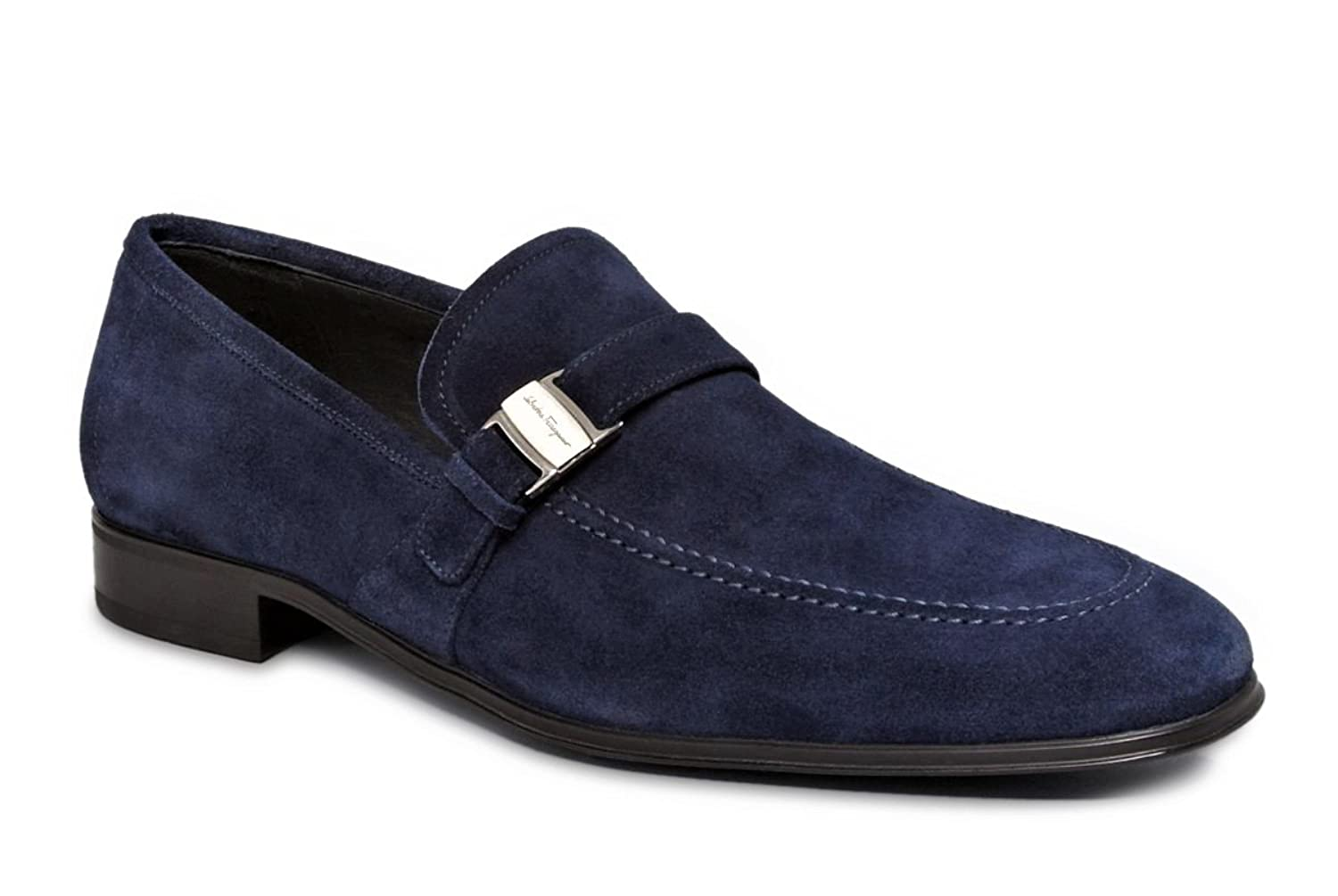 454cb5dd5bd Amazon.com  Salvatore Ferragamo Pinot Mens Blue Suede Loafers Shoes Made in  Italy (8 D(M) US)  Shoes