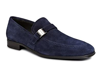 4e0007ed10a Salvatore Ferragamo Pinot Mens Blue Suede Loafers Shoes Made in Italy (8 D(M