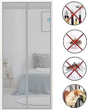 Brown 70x190cm Screen Magnets with Enhanced Magnets Magnetic Screen Door for Sliding Glass Door 28x75inch COAOC Magnetic Screen Door