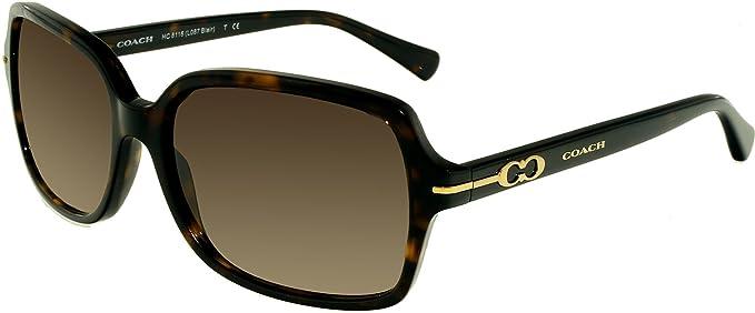 5a3e96b9d9cac Image Unavailable. Image not available for. Colour  Coach Women s Gradient Blair  HC8116-500113-56 Tortoiseshell Rectangle Sunglasses
