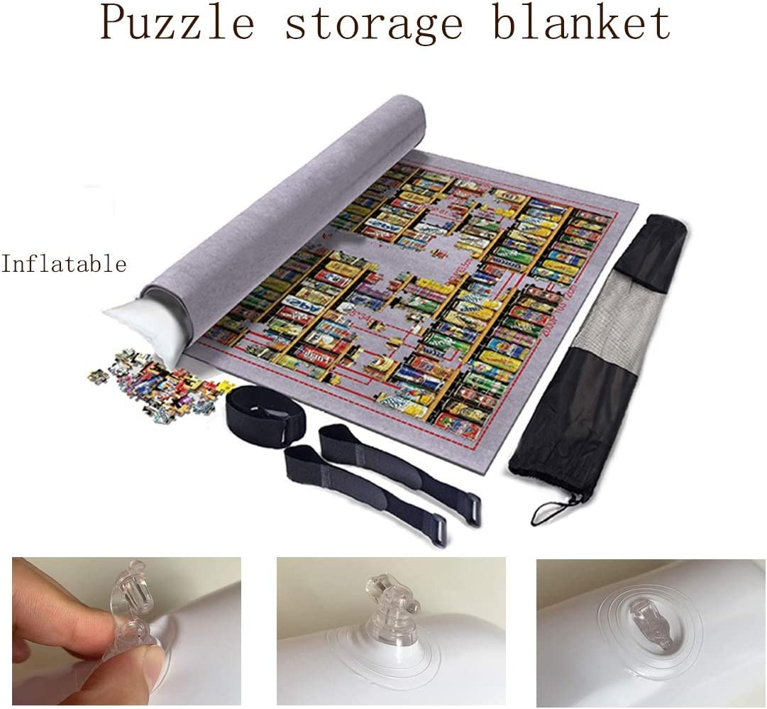 Store Jigsaw Puzzles Up to 3000 Pieces Jigsaw Puzzle Roll Mat Puzzle Storage Mat Felt Mat 100/×140Cm Environmental Friendly Material